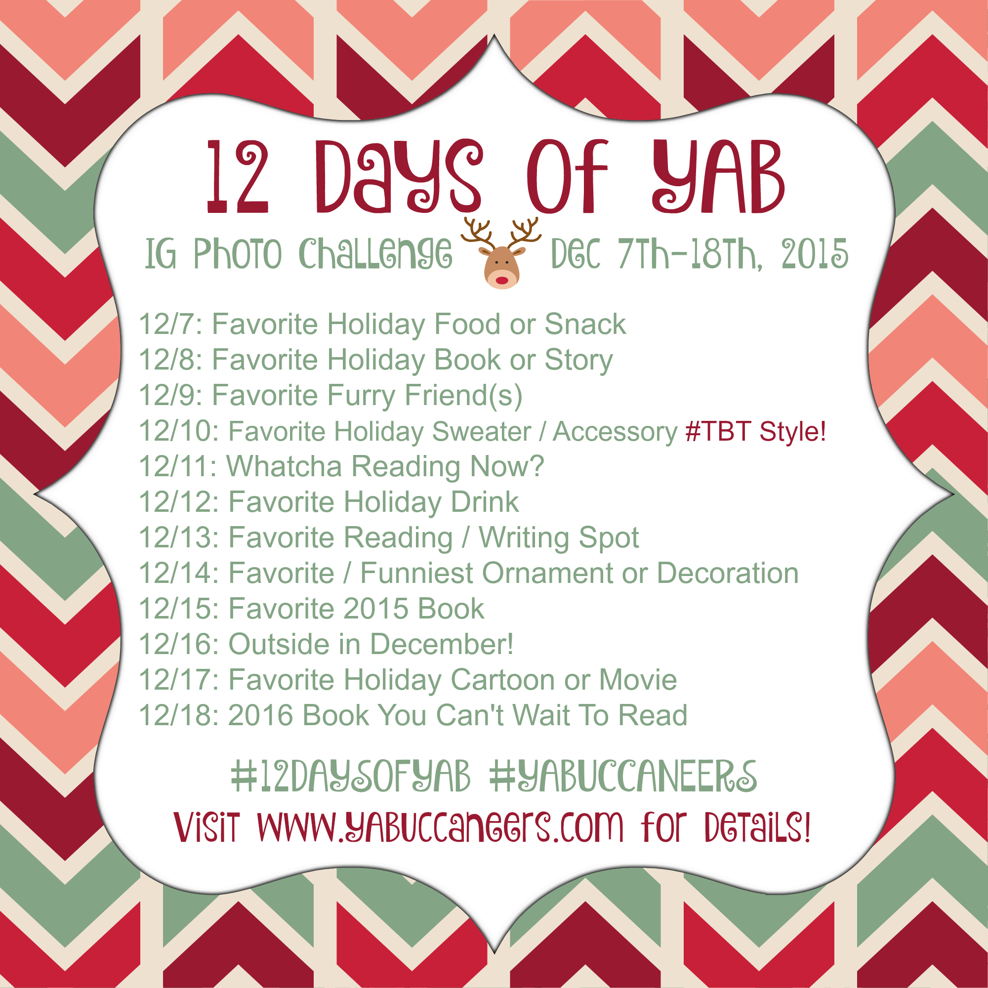 12 Days of YAB