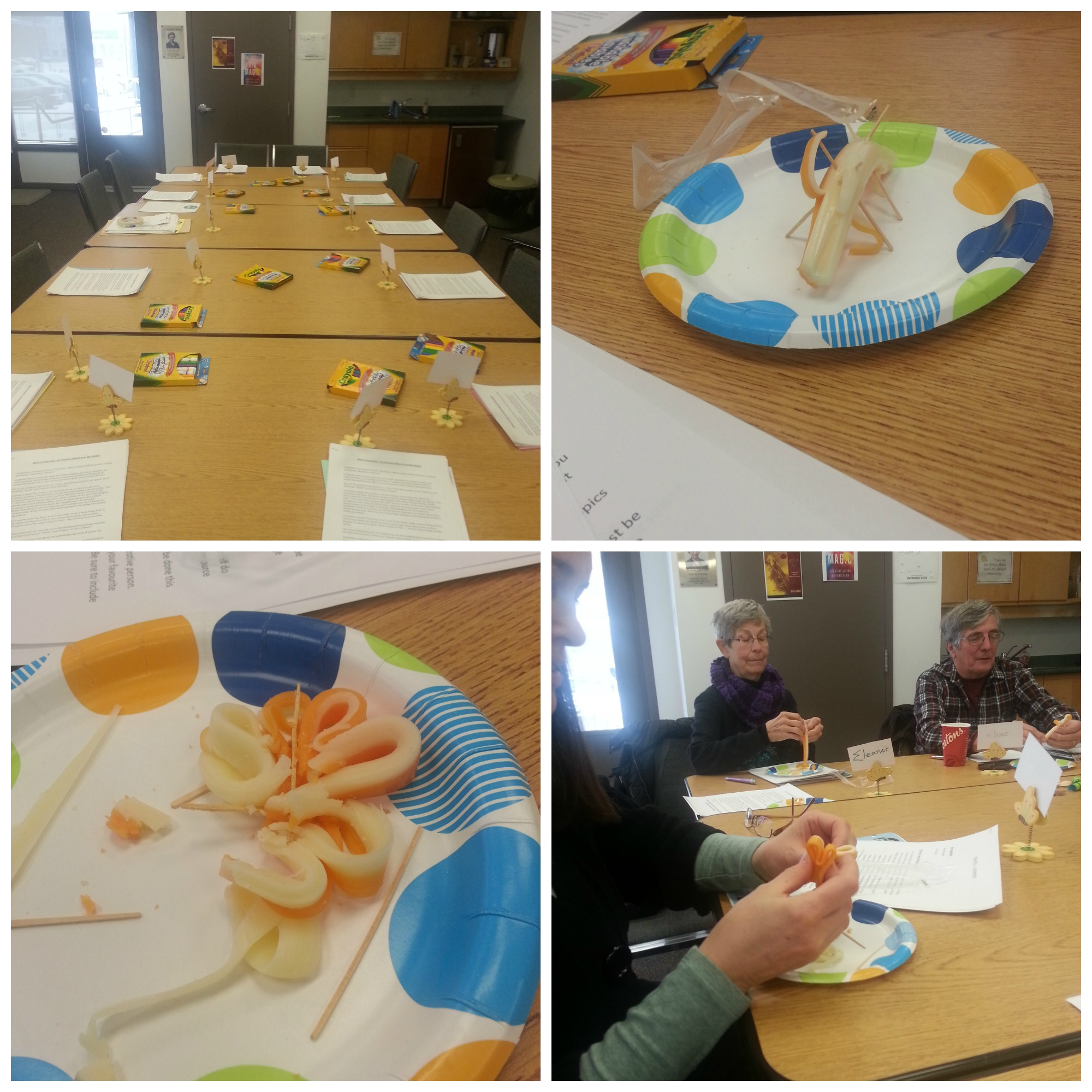 Cheese creations during our creativity activity