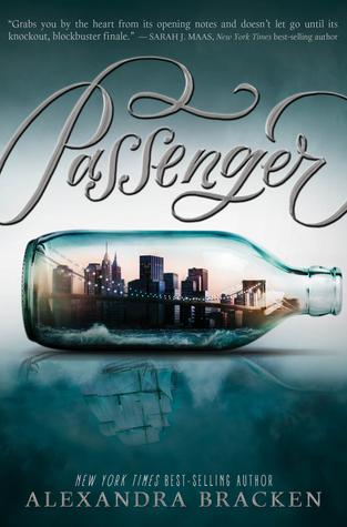 I'm reading PASSENGER by Alexandra Bracken.